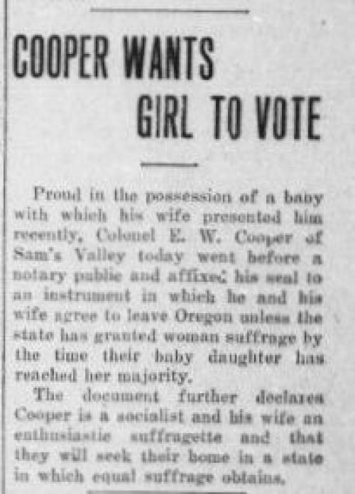 Cooper Suffrage