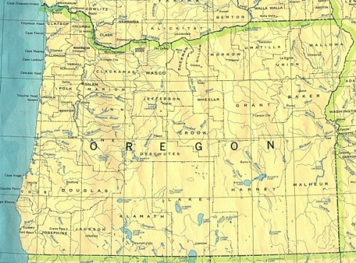 Oregon 1910 Map
