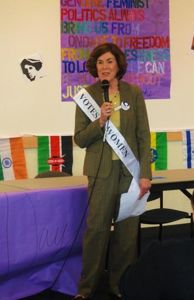 Meg Weiss proudly wearing her sash.